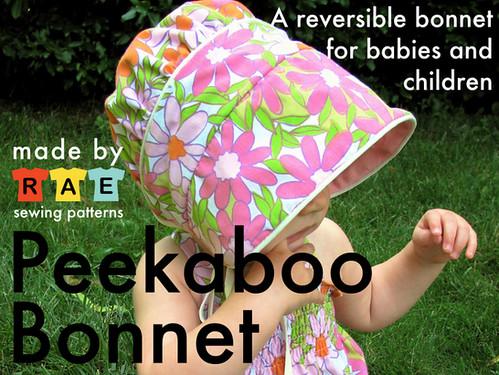 Peekaboo Bonnet Sewing Pattern!