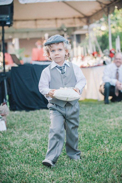 the ringbearer walks: by evanrphotography