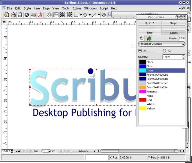 Best list of free image & graphic designing softwares - Scribus