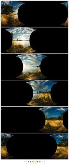Zes losse bestanden met elk een foto zoals PTgui deze in het panoramabestand heeft verwerkt. Deze bestanden zijn te gebruiken om stitchfouten te corrigeren.