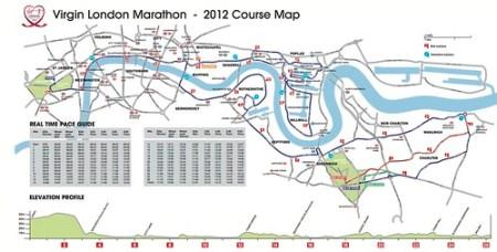 Ruta del Maratón de Londres 2012