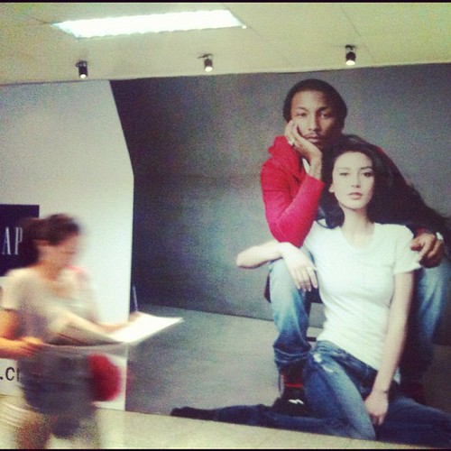 I don't like GAP, but I am happy that this advertisement feature a black and Chinese model together. The more Chinese people see  images of black people in non-violent roles, the less racist they will be towards them. Beijing, China