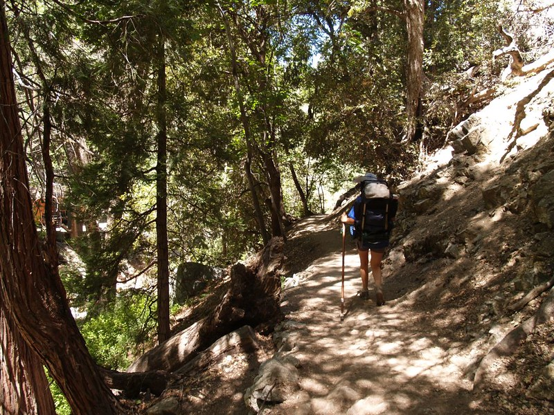 Hiking on a mellow weekday on the lower Icehouse Canyon Trail