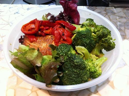 Salmon teriyaki lunch bowl
