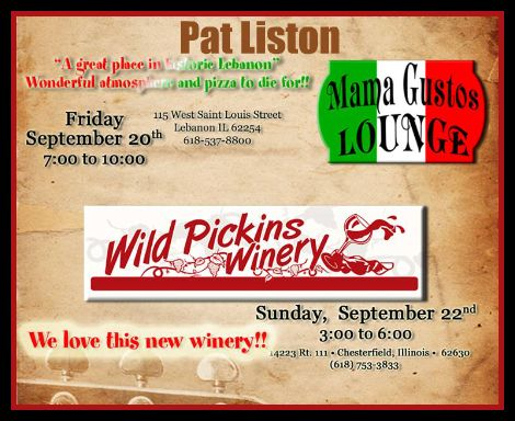 Pat Liston 9-20, 9-22-13