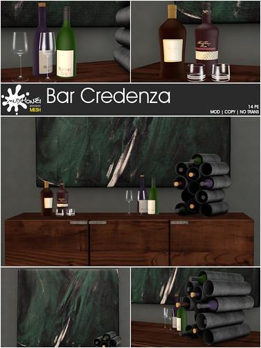 mudhoney bar credenza