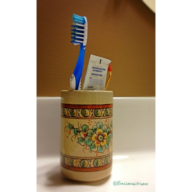 July 26 - the everyday {self explanatory, I think } #fmsphotoaday #everyday #toothbrush #cup #ordinary