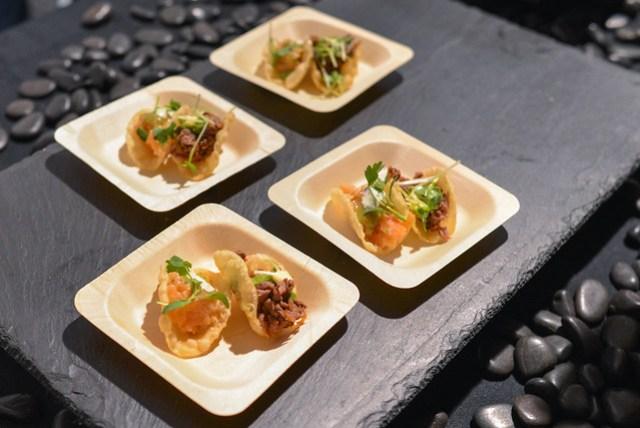 Nobu LA wagyu beef tacos; salmon tacos