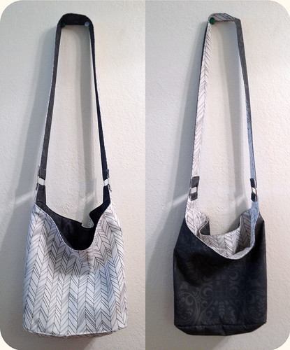 Reversible Hobo Sling Bag by intraordinary