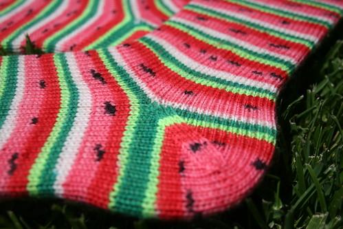 Finished Watermelon Socks 3