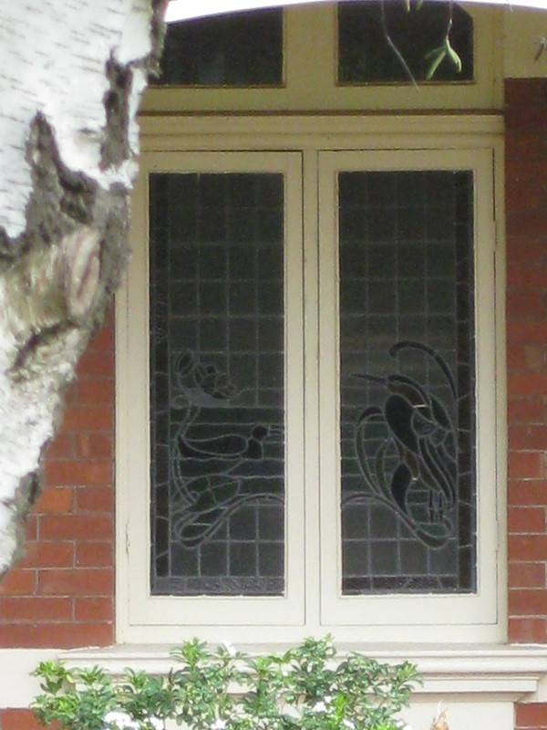 The Art Nouveau Stained Glass Window of Queen Anne Style Villa - Ballarat By raaen99