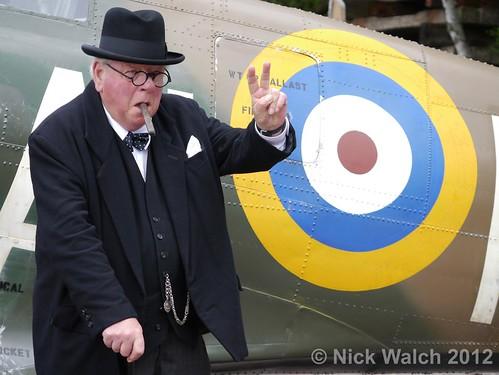 GCR War Weekend Churchill Spitfire