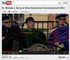 Dr. Michael J. Burry at UCLA Economics Commencement 2012 - pix