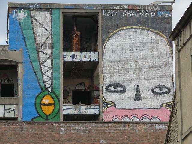Stokes Croft street art - Rowdy, Cyclops, Sweet Toof