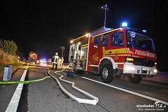 Brennender Gussasphalt-Anhänger A66 Hattersheim 20.07.13