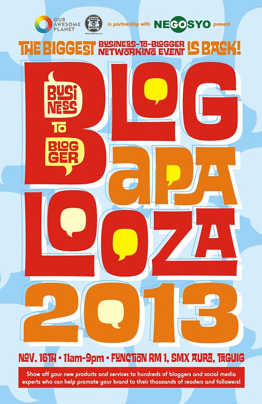 Blogapalooza Announcement poster