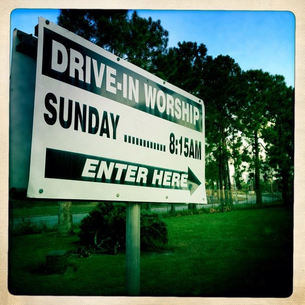 Out and About: Drive-in Church