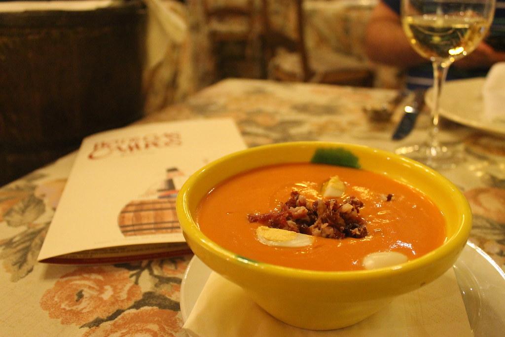 Salmorejo para comer en Córdoba