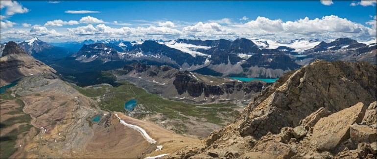 On the summit of Cirque Peak