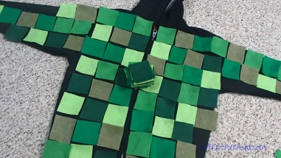 Easy minecraft creeper costumeats comfy to wear minecraft creeper costume solutioingenieria Images