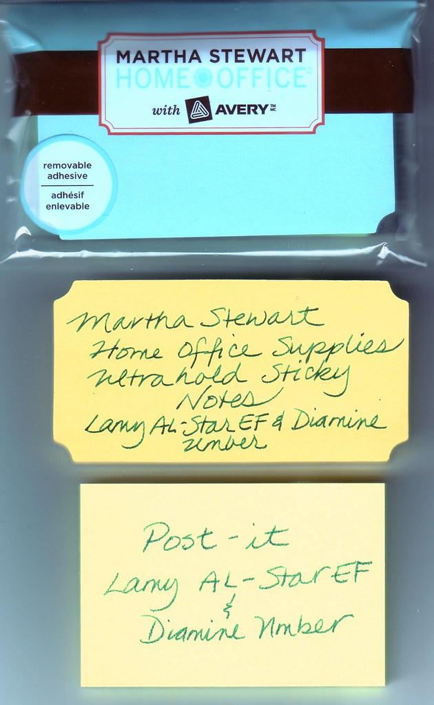 Martha Stewart Sticky Notes