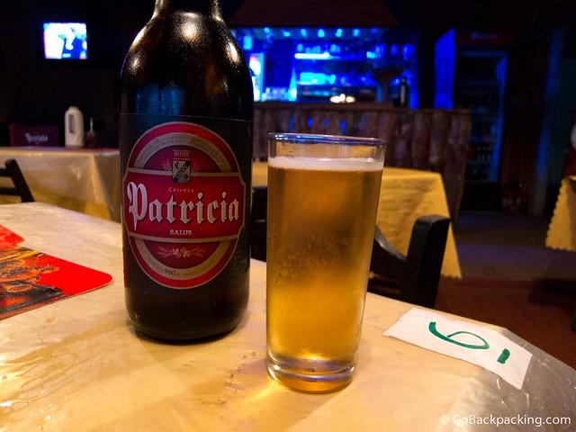 Liter bottle of Uruguayan beer