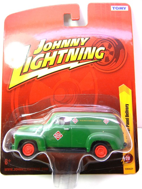 johnny lightning 1950 chevy panel delivery green