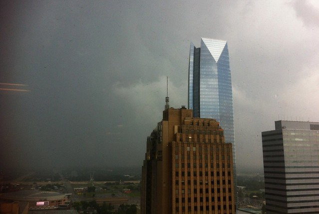rain-wrapped Moore tornado
