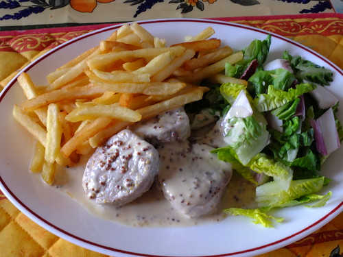 Pork medallions in a cream and mustard sauce by La belle dame sans souci