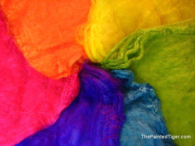 Bright Tropical Rainbow Silk Hankies