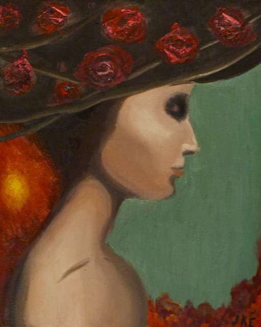 Roses in a hat