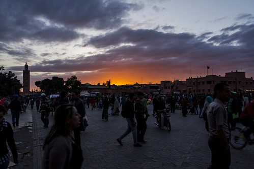 The main square in Marrakech, Jemaa el-Fnaa