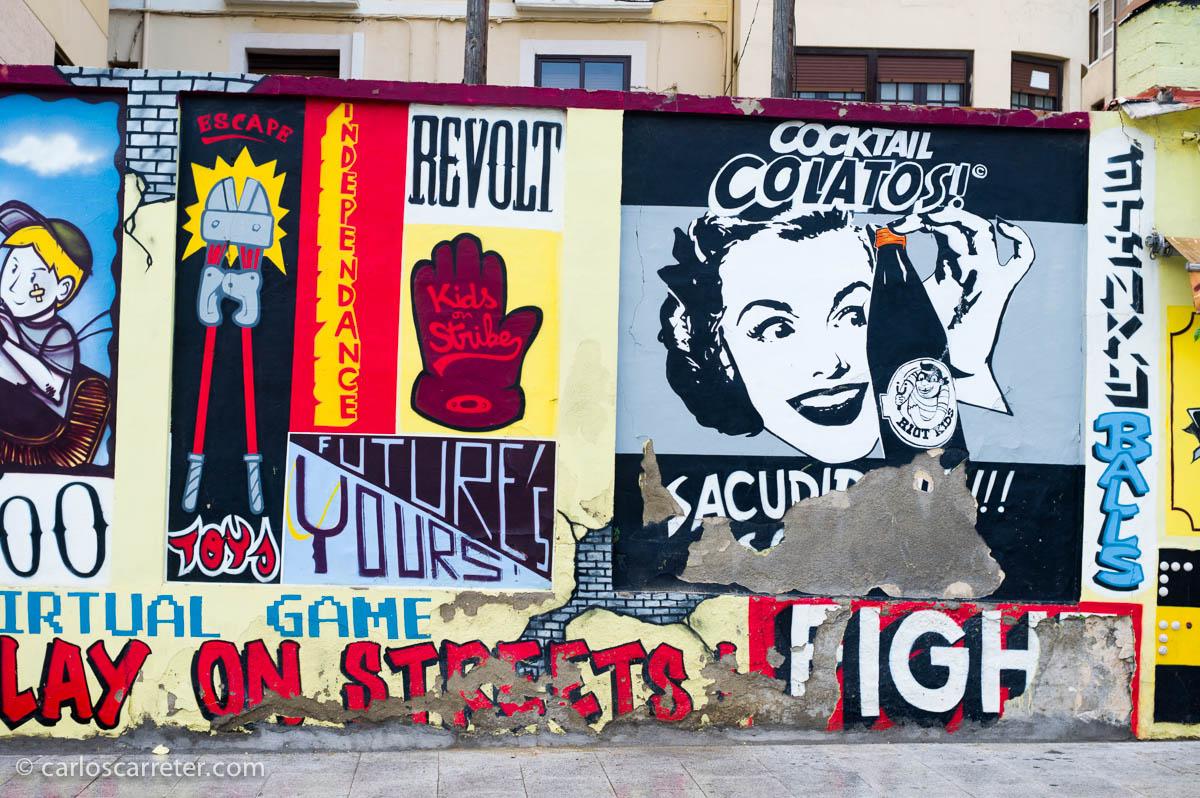 Grafitis en las murallas