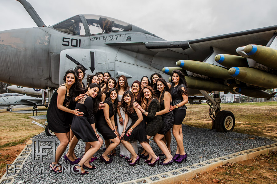 Indian pre-wedding shoot by fighter plane