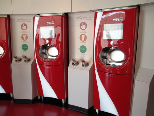 More than 100 combinations are possible with the Coca-Cola Freestyle fountain.