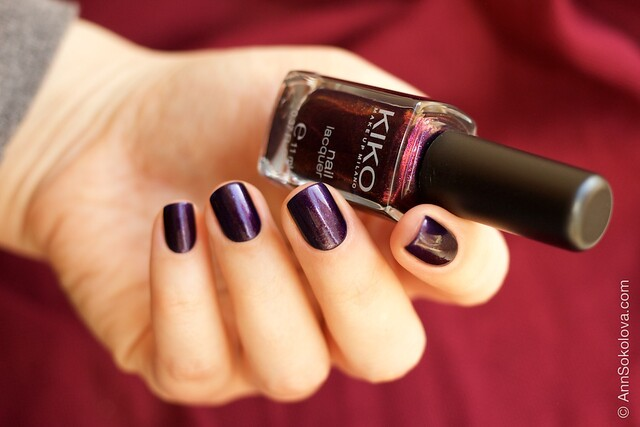 01 Kiko #497 Pearly Indian Violet nail laquer swatches