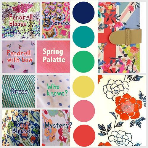 Spring Summer Colour Palatte plans