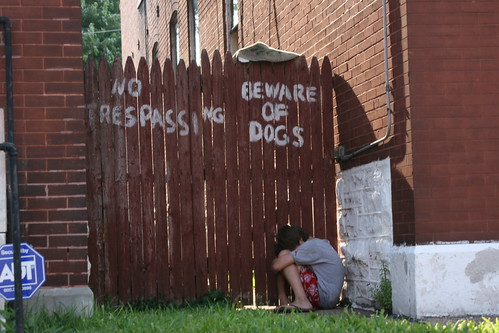 No Trespassing Beware of Dogs South St. Louis Benton Park West