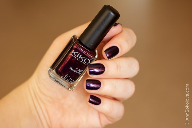 07 Kiko #497 Pearly Indian Violet nail laquer swatches