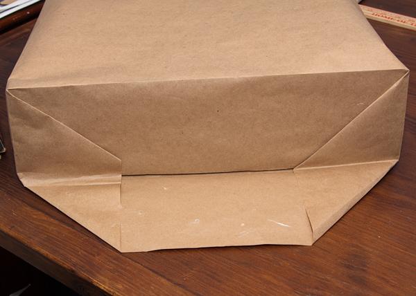 Brown paper gift bag