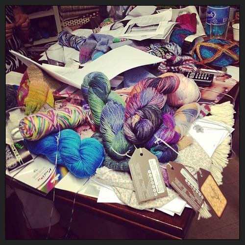Work in progress #sockyarn #knit #knitting