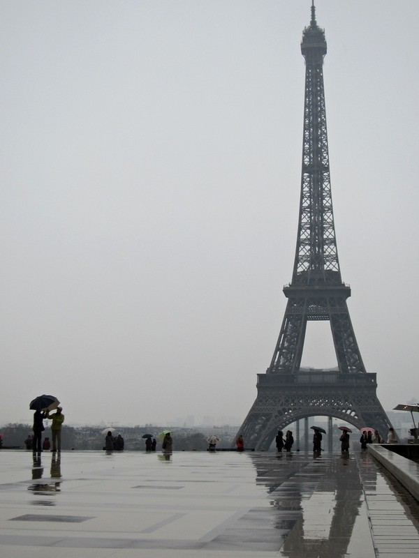 Eiffel Tower in Rain