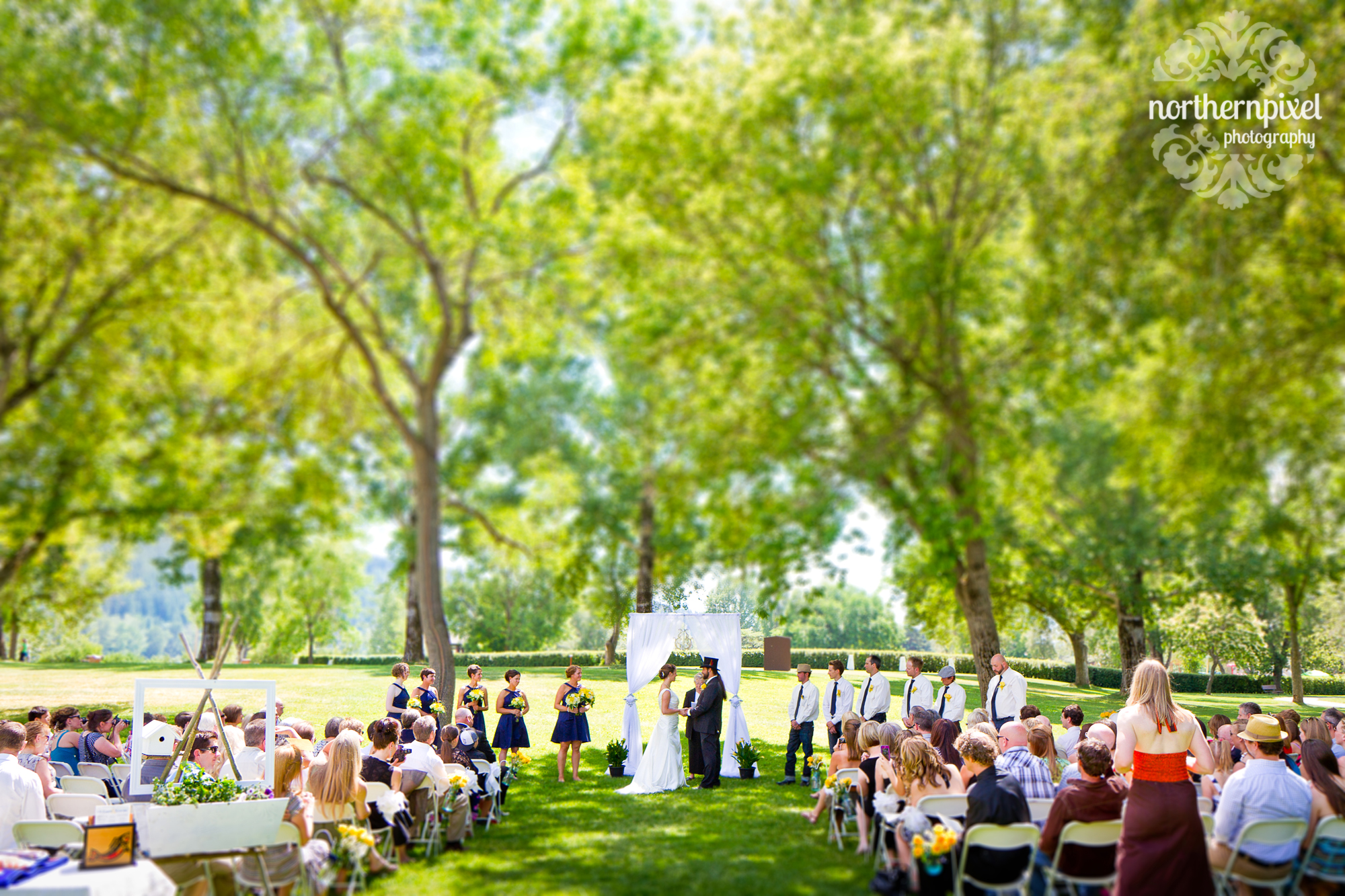 Wedding Ceremony Fort George Park Prince George BC