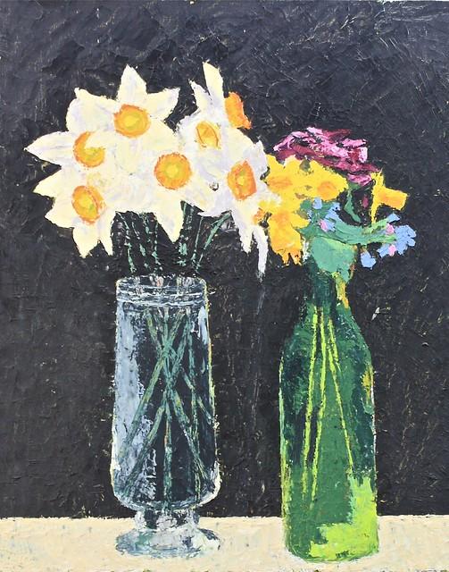 Janet E Davis, Spring flowers, 1992. JED2_H300_021140