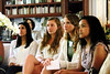 14  Winners Cindy Guzman, Jacquelynn Chmiel, Daisy Mase and Naiyah Ambros listen attentively to Mr. Hillier.