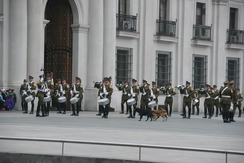 Troca da Guarda no Palácio La Moneda