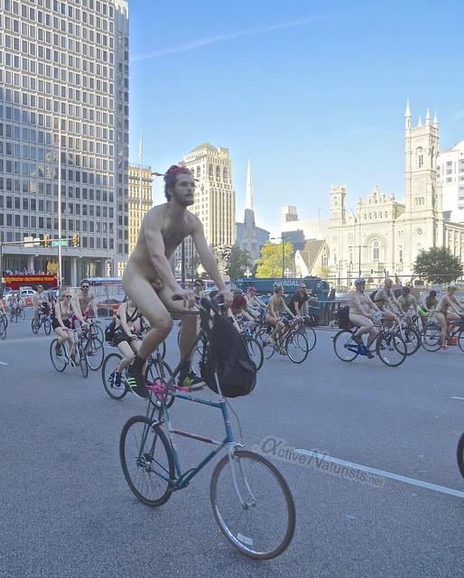 naturist 0072 Philly Naked Bike Ride, Philadelphia, PA USA