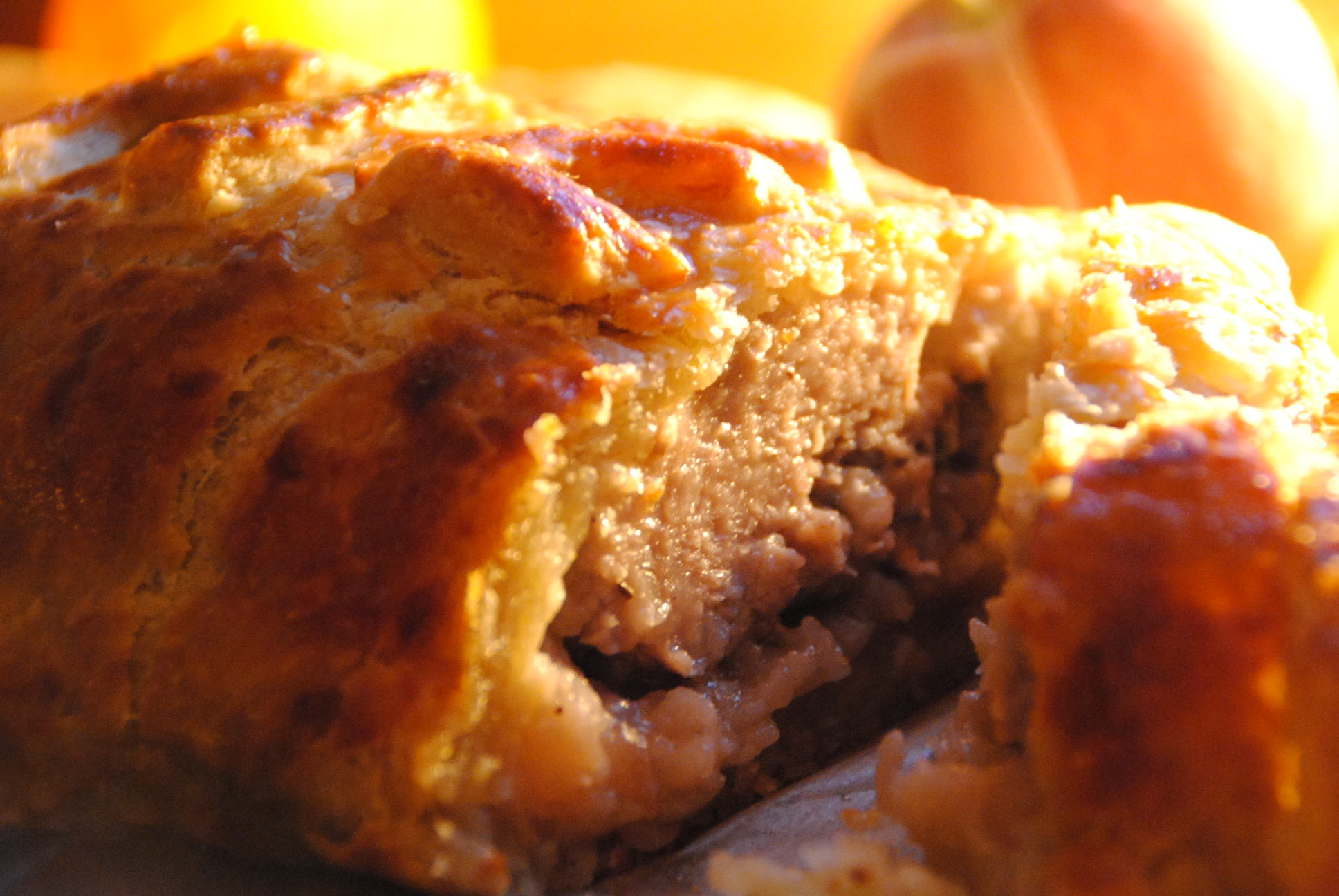 Sausage and apple  pie