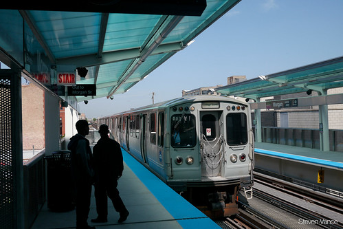 First day of CTA Morgan Station serving the Green and Pink Lines