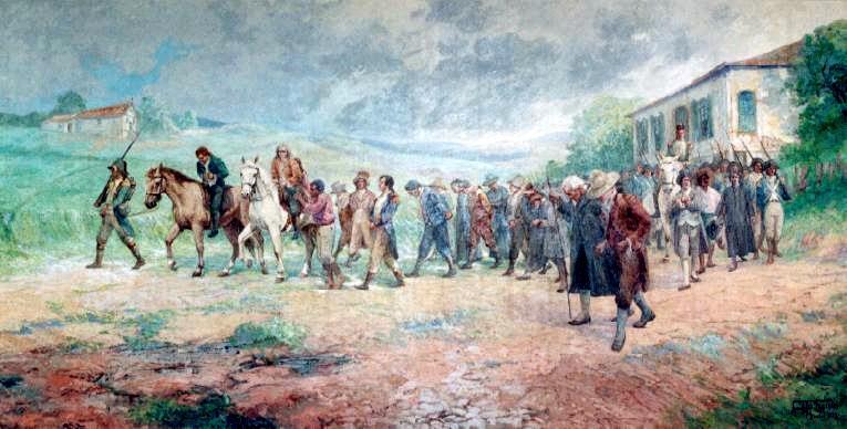 Condenados camino del presidio. Antonio Parreiras. Óleo sobre lienzo, 1800